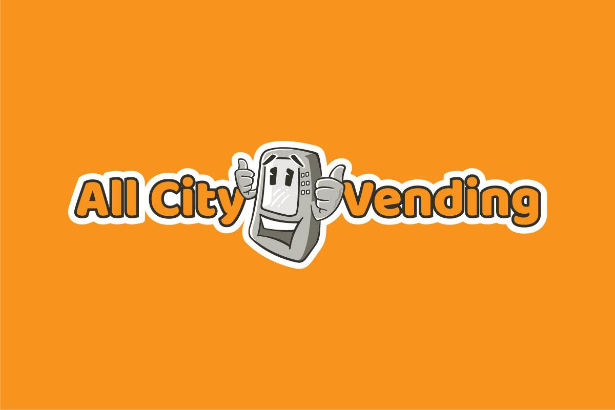 All City Vending Logo Horizontal Orange