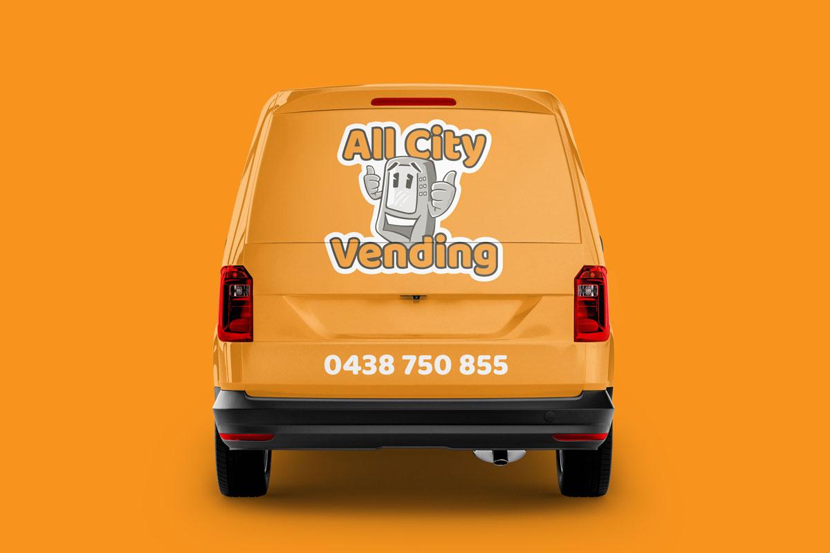 All City Vending Logo Van Back