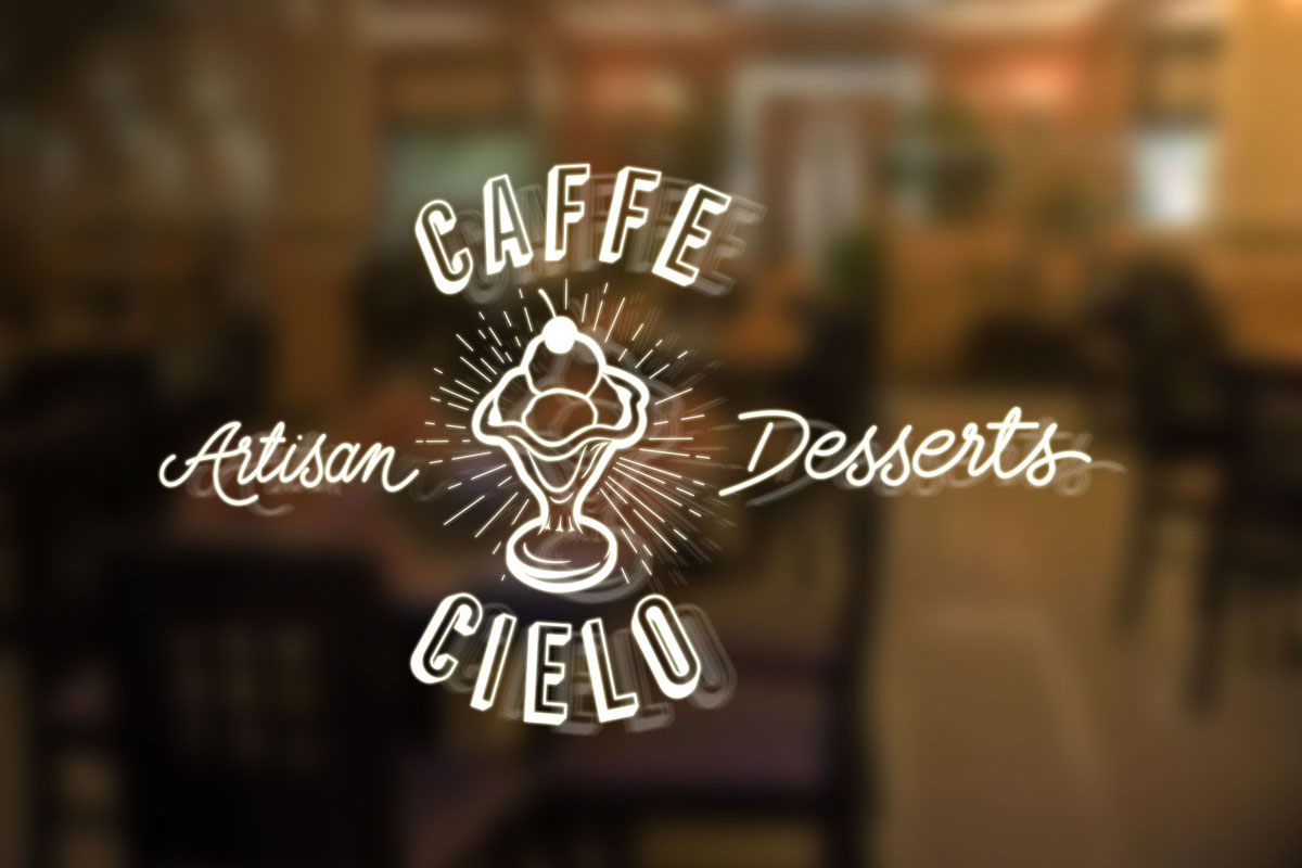 Caffe Cielo logo on shop front