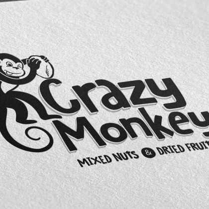 Crazy-Monkey-Logo-on-paper