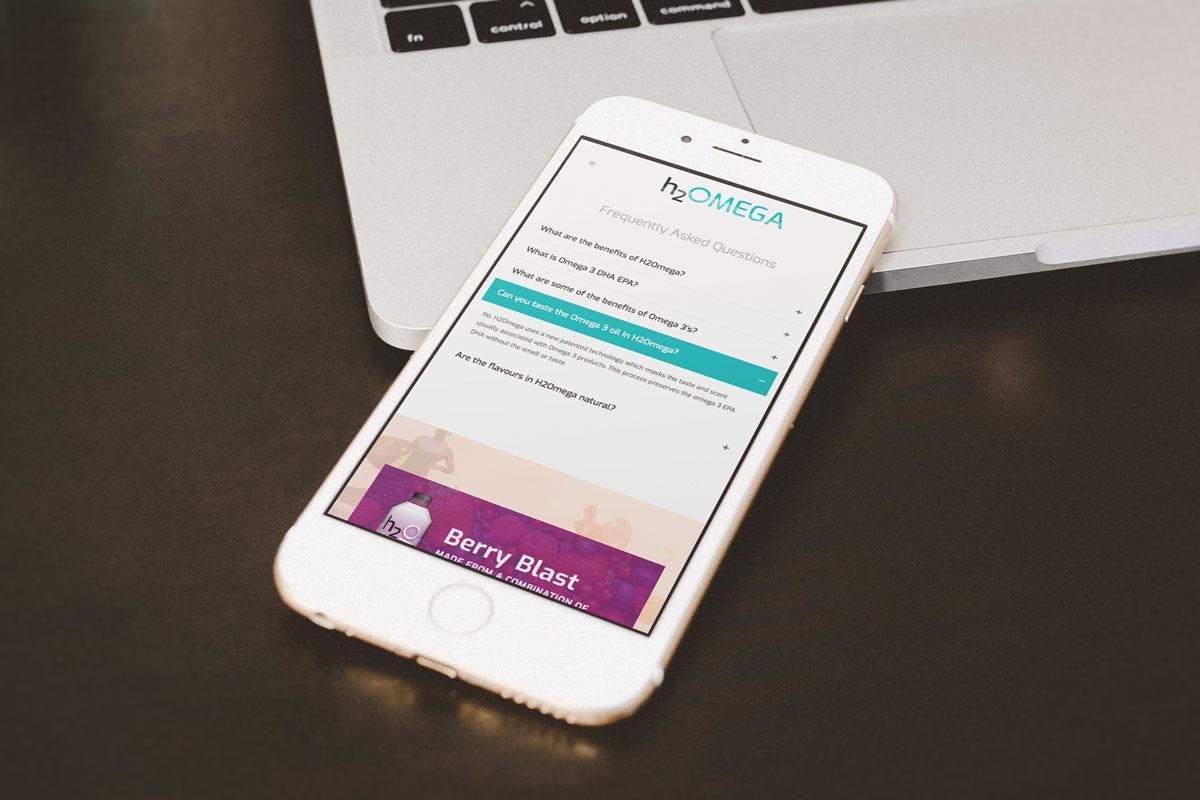 H2Omega Website Design
