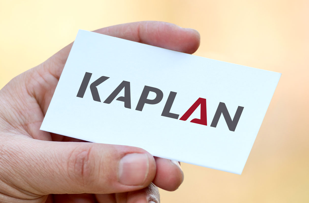 Kaplan Logo Design – Business card