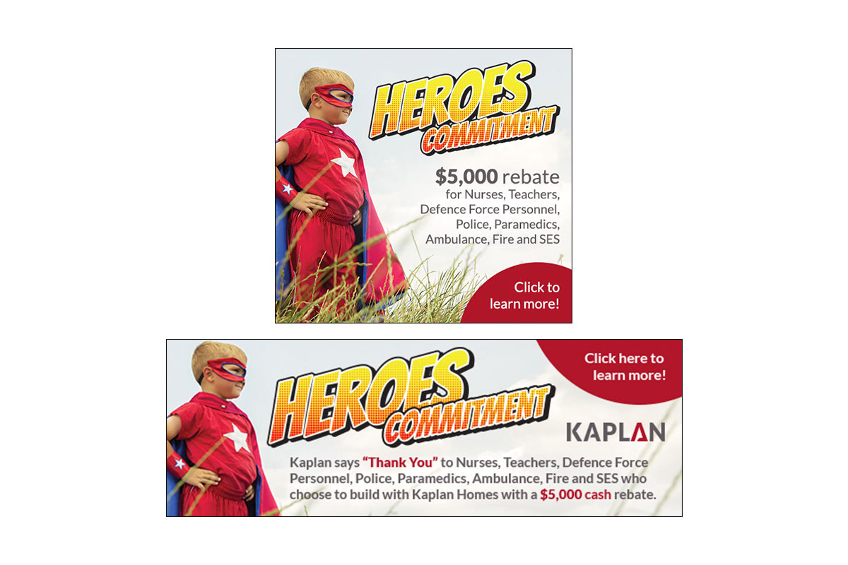 Kaplan Digital Banner Ads - Heroes