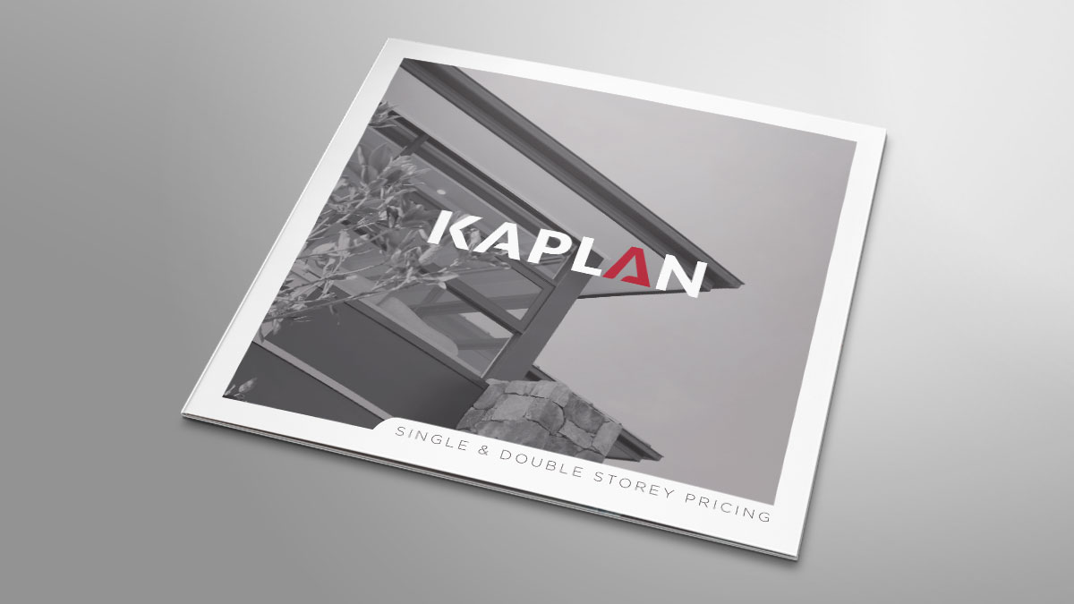 Kaplan Homes Roll Fold Price List Brochure