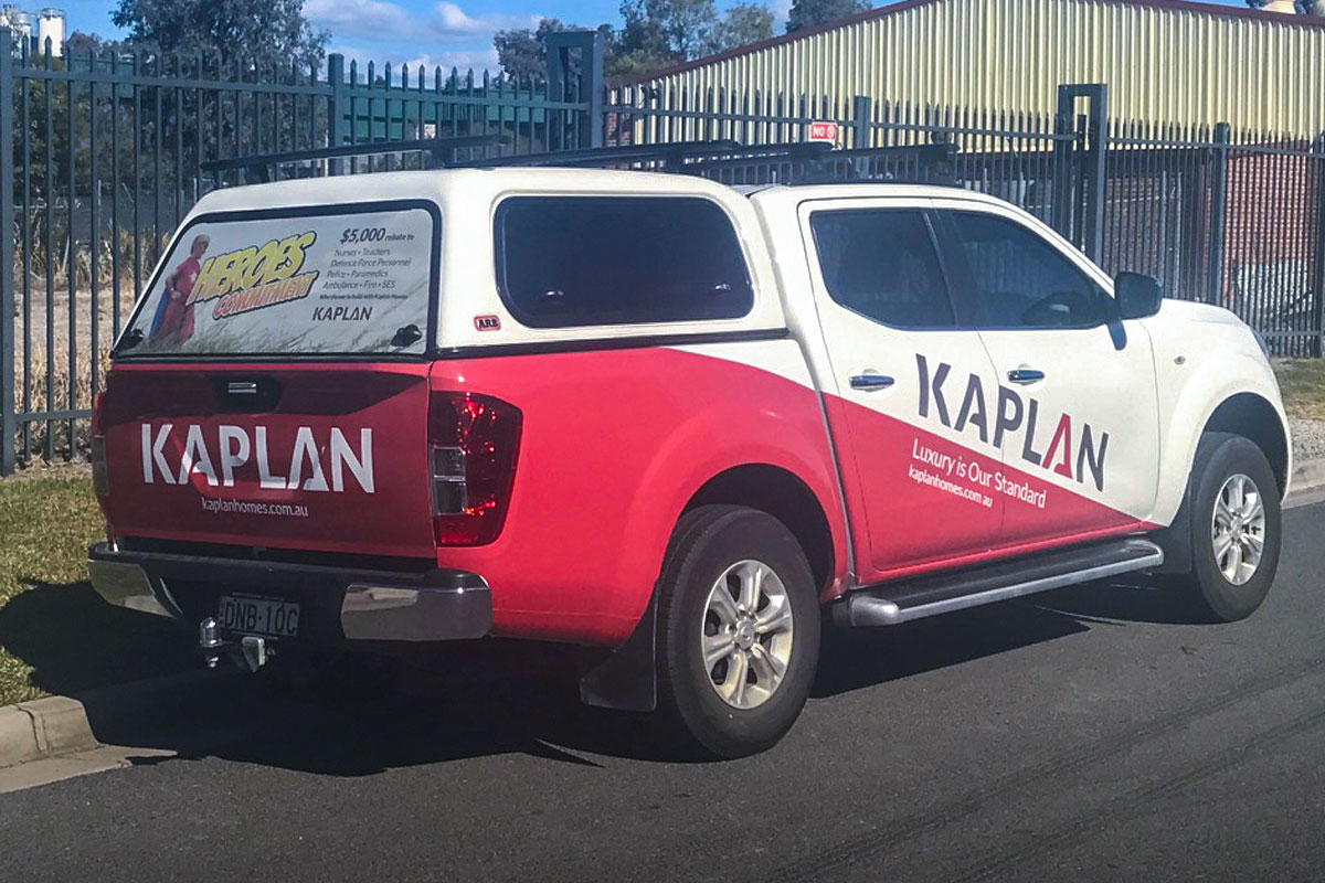 Kaplan Homes Car Signage