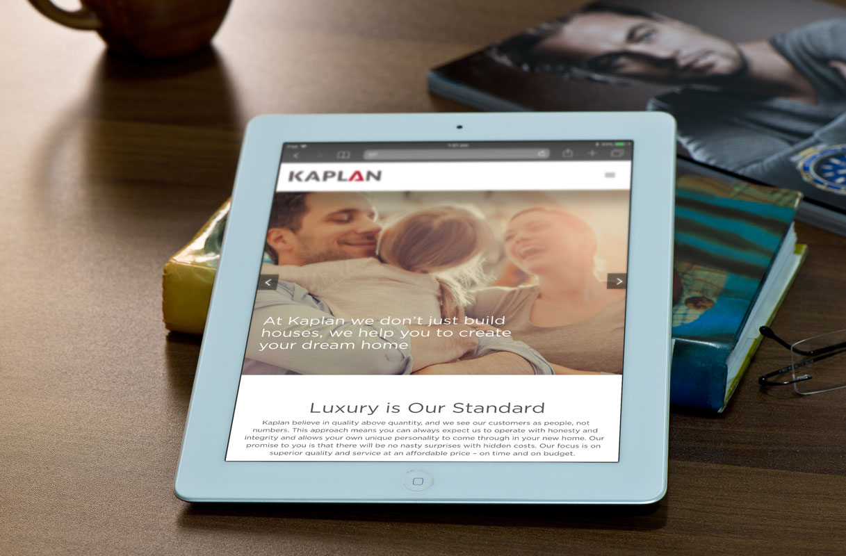 Kaplan Home Website Design ipad-2