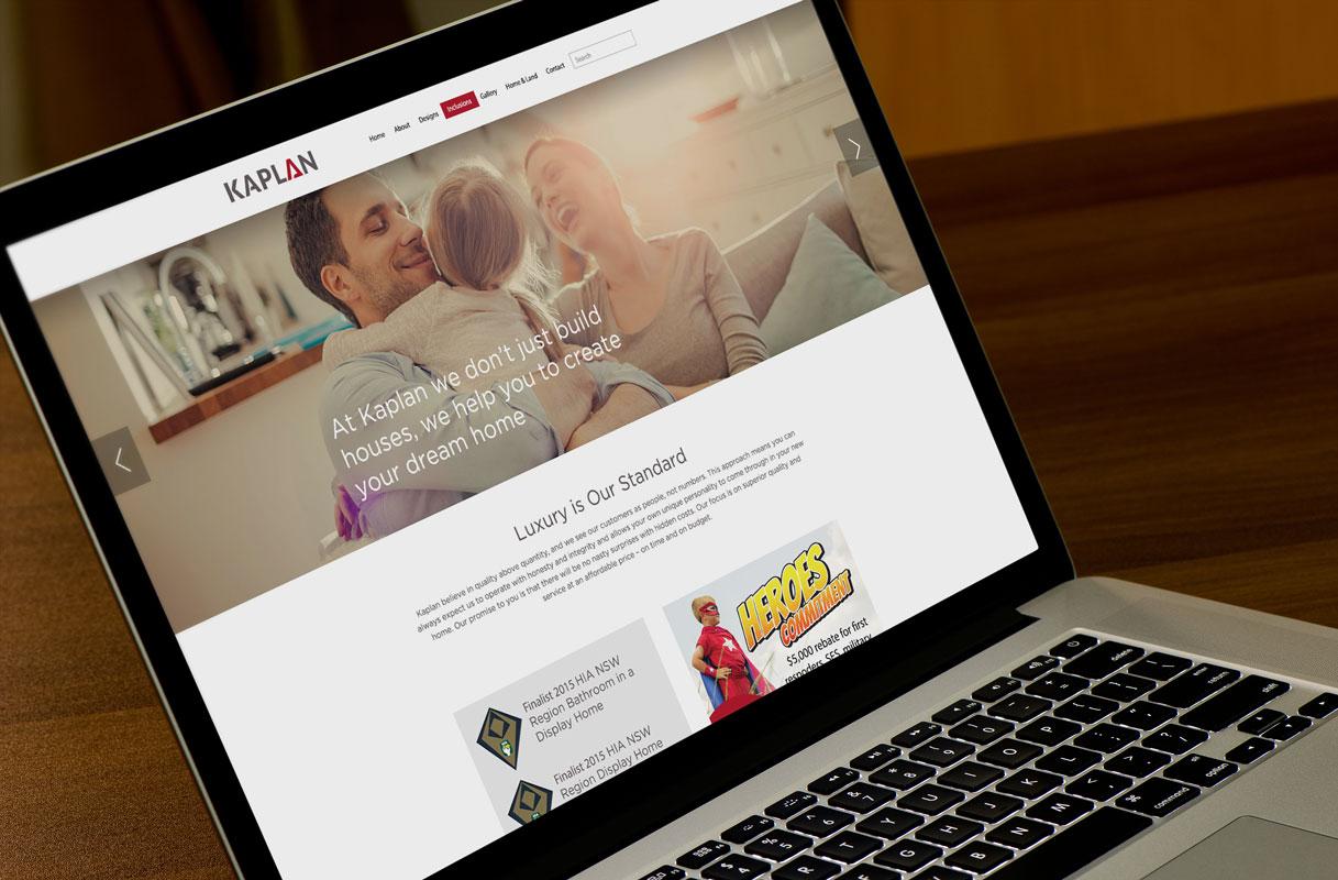 Kaplan Homes Website-laptop