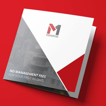 M1 Properties Square Trifold Brochure