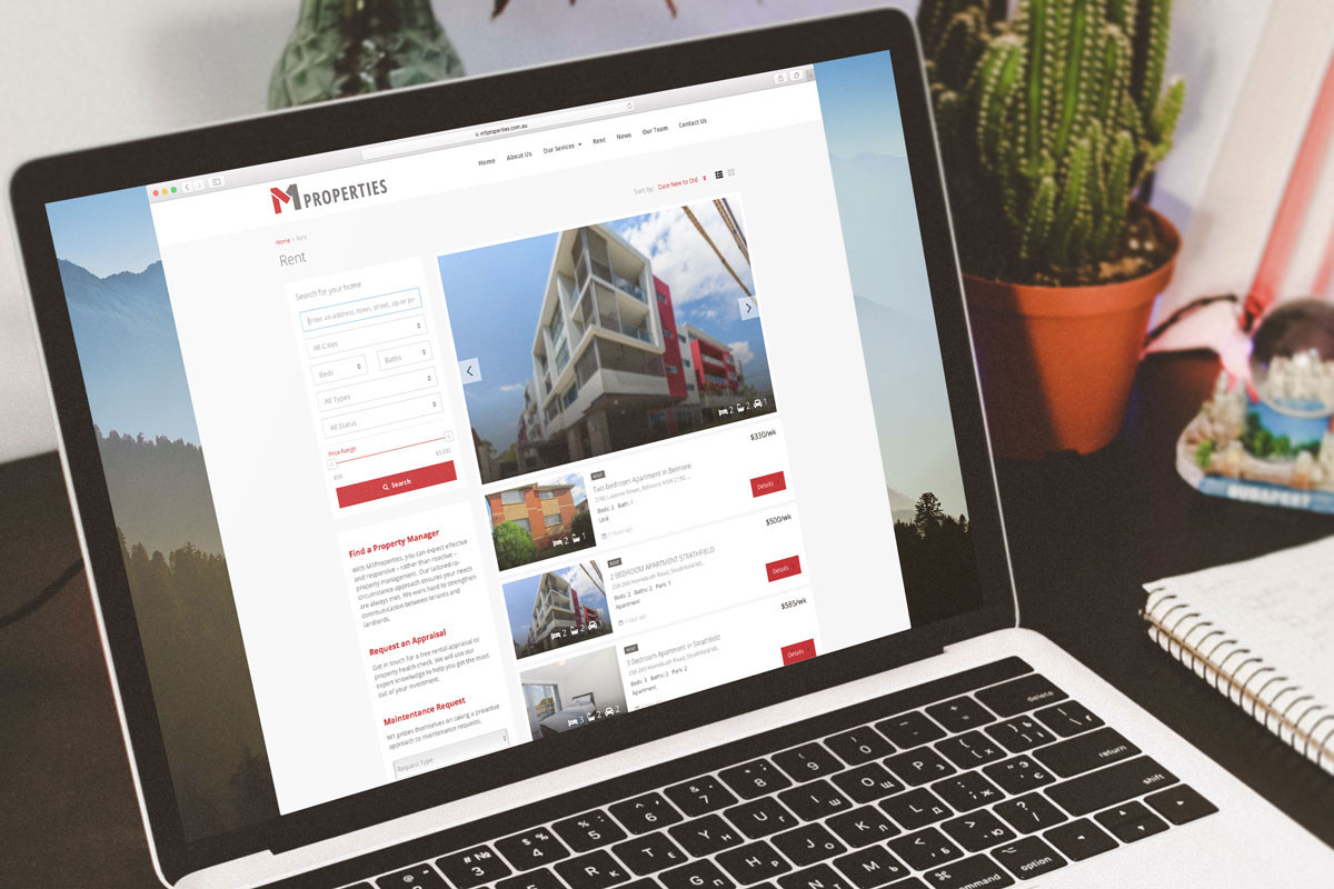 M1 Properties website design